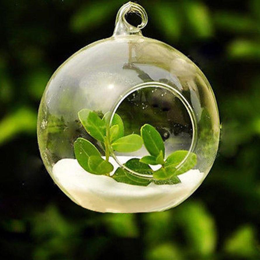 1PC 6/8/12CM Hanging Tealight Holder Glass Globes Terrarium Wedding Candle Holder Candlestick Vase Home Hotel Bar Decoration 40p image