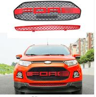 FUWAYDA Mesh bumper grille Car Styling ABS Red F150 Style Front Grill for Ford Ecosport 2012 2013 2014 2015 2016