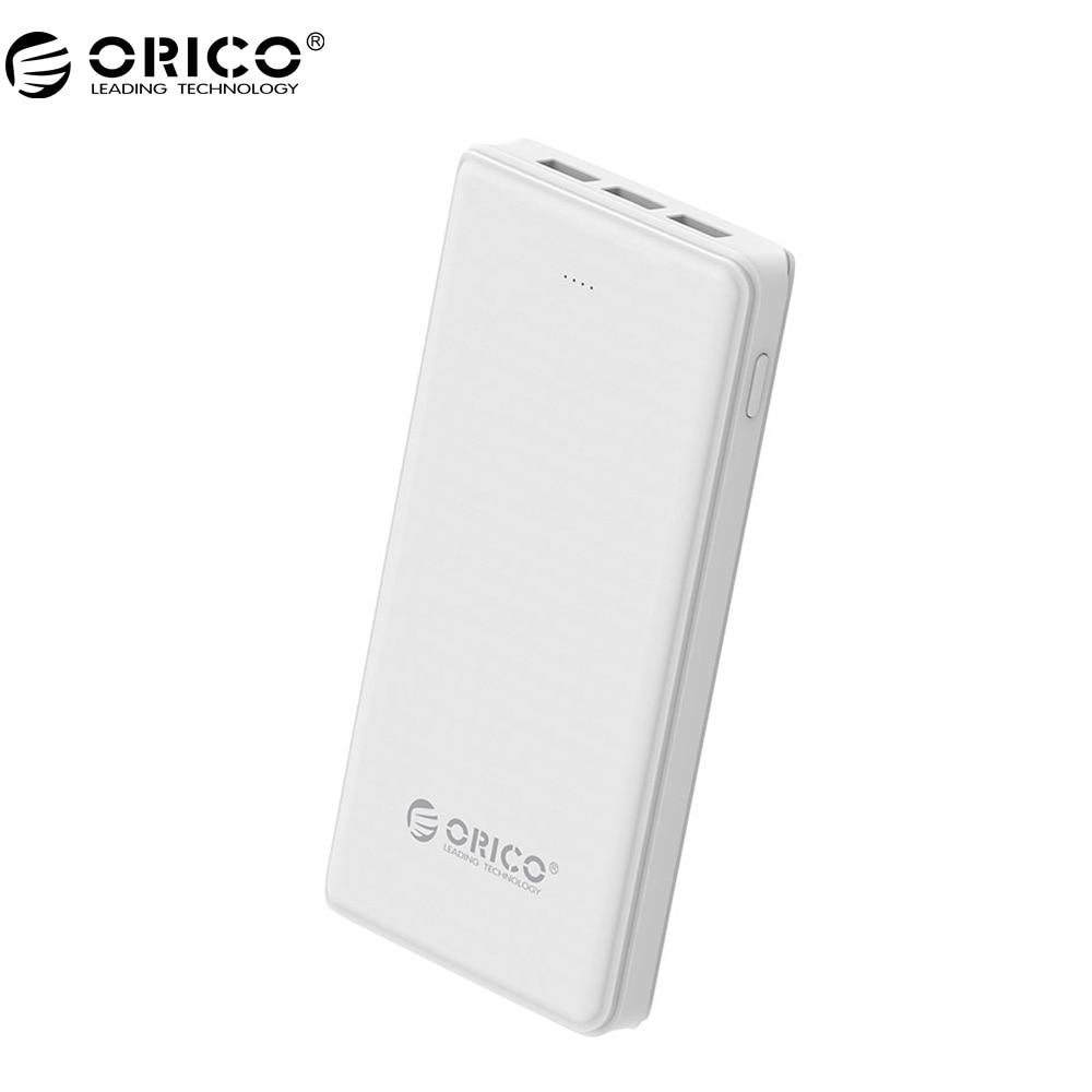 ORICO 3 USB della Banca di Potere Batteria Esterna 20000 mAh Backup Mobile Portatile del Caricatore della Banca per Android iphone