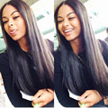 Sunnymay Hair Full Lace Wig 100% Indian Remy Human Hair Wigs Silky Straight Lace Front Wig For Black Women