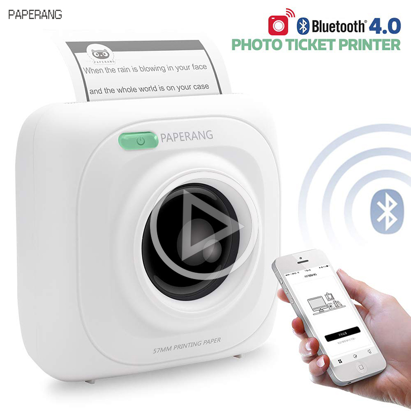Bluetooth-4.0 Printer Photo-Phone Android-Windows Mini Paperang P1 Portable Wireless