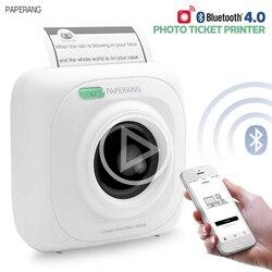PAPERANG P1 impresora portátil Bluetooth 4,0 térmica foto teléfono conexión inalámbrica Mini impresoras de bolsillo para iOS Android Windows