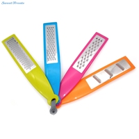 Set 4 Modern Colorful Stainless Steel Plastic Hand Held Cheese Garlic Graters