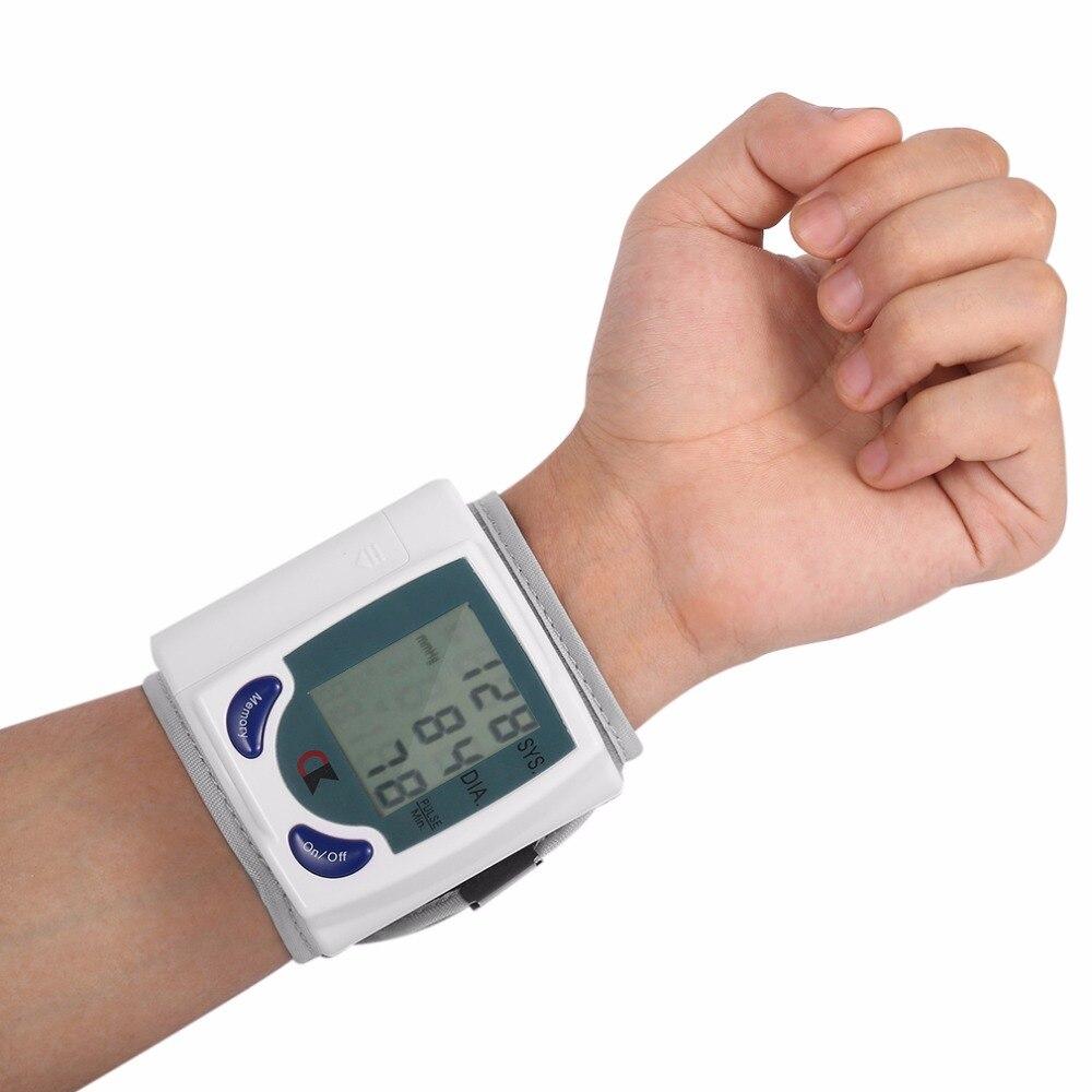 Здравоохранения автоматический тонометр цифровые наручные крови Давление монитор для измерения Heart Beat Частота пульса DIA тонометр