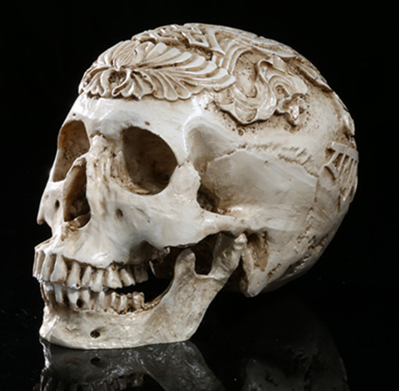 High-precision Carved Skull High-end Resin Skull Handicrafts Home Decoration Skull Halloween