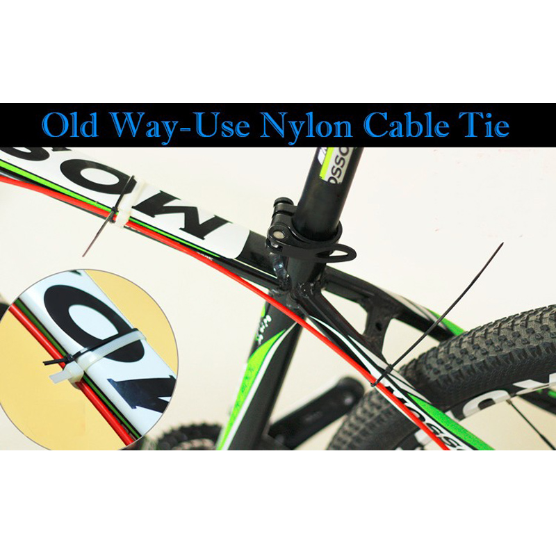 4x Bike Cable Guide Bicycle Hydraulic Hose Guides Stick On Guides Attachments