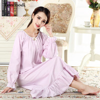 Nightgown For Women Long Nightdress Cotton long sleeved dress Women Sleep Nightgowns