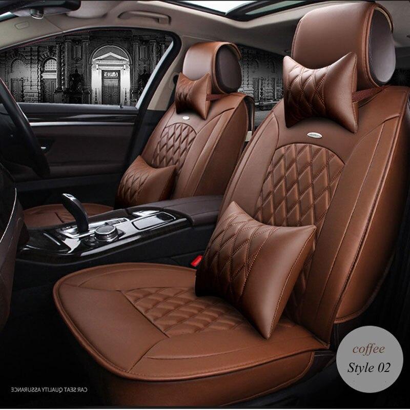 LUNDA PU En Cuir Universel Siège complet Couvre set Pour BMW e30 e34 x3 x5 x6 toyota Intérieur Accessoires Protecteur Auto voiture-Style