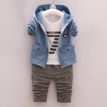 цены на okoufen 2019 new baby boy clothes suit boy coats+shirt+pants 3 in 1 kids clothing sets spring and autumn child clothes body suit  в интернет-магазинах