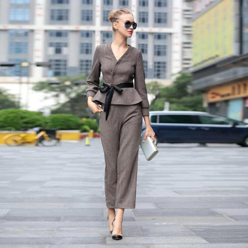 2019 Sexy V Neck Suit Jacket Women Fashion Long Sleeve Suits Women Elegant Tailored Collar Jacket