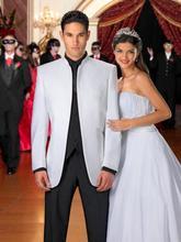 Classic Style White Groom Tuxedos Groomsmen Men's Wedding Prom Suits Bridegroom (Jacket+Pants+Vest+Tie) K:931