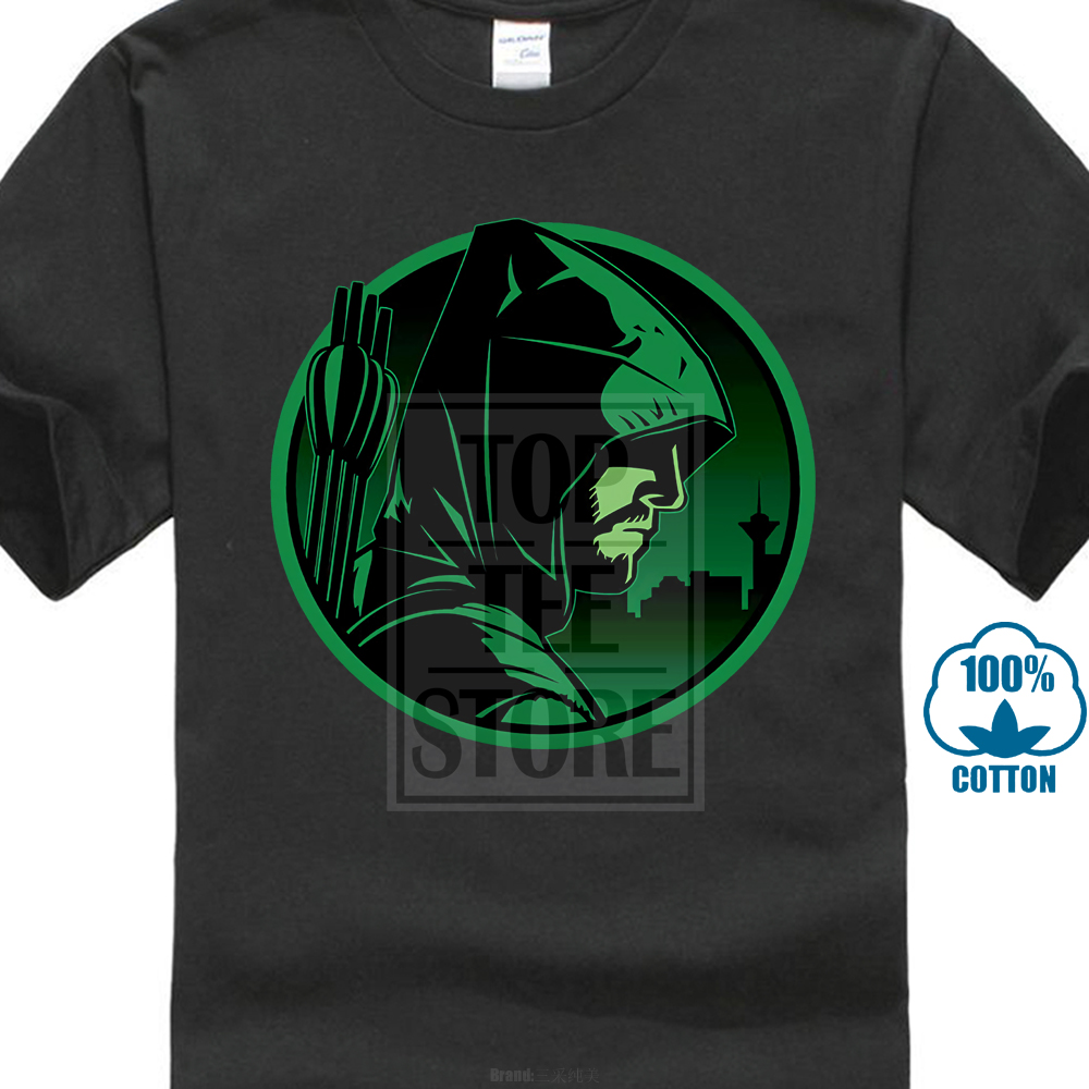 Arrow Oliver Quinn Bow Archery Justice Comics Green League T Shirt