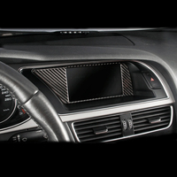 Carbon Fiber Car Inner Console GPS Navigation NBT Screen Frame Cover Trim Accessories For Audi A4 B8 A5 09 16 Car styling