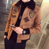גרסה קוריאנית של מעיל הכותנה של גברים החורף זמש נאה בגדי גאות בגדים עבים קשמיר משלוח חינם