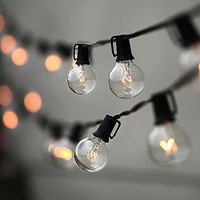 String Lights 25Ft G40 Bulb Globe String Lights With Clear Bulb Backyard Patio Lights Decorative Outdoor