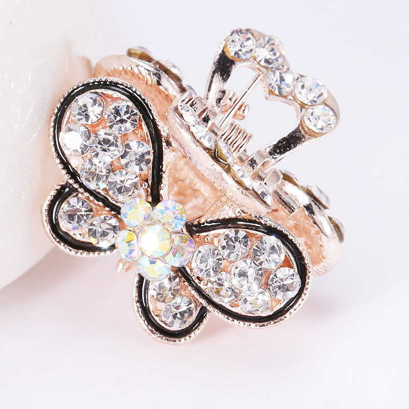Купить с кэшбэком Hot Sale 1PC Rhinestones Hair Claws Cute Crown Barrettes Crystal Mini Butterfly Hairpins Accessories