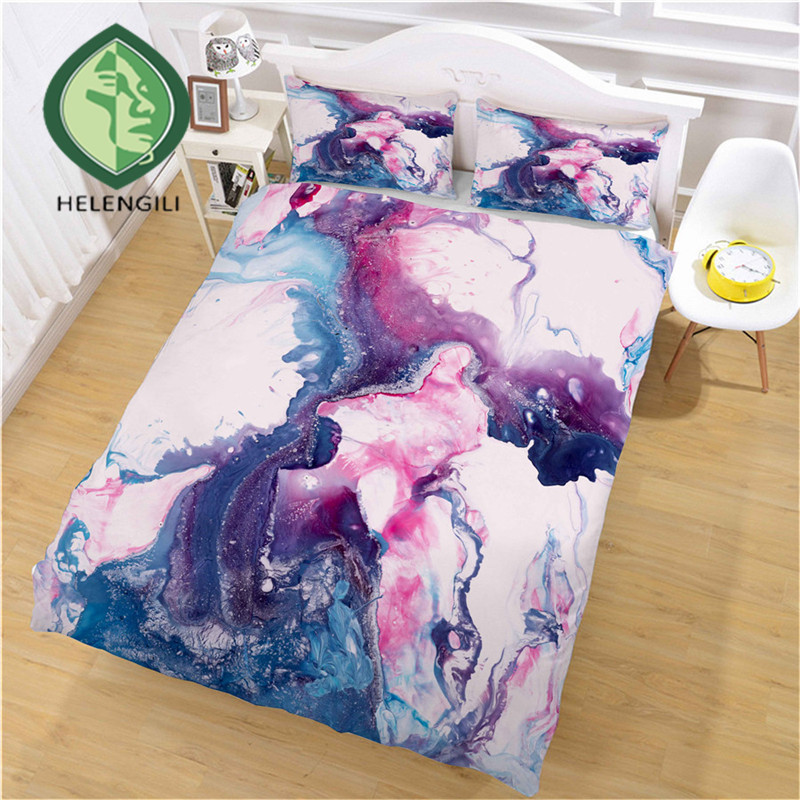 HELENGILI 3D Bedding Set Marble Print Duvet Cover Set Bedclothes with Pillowcase Bed Set Home Textiles #DLS-15HELENGILI 3D Bedding Set Marble Print Duvet Cover Set Bedclothes with Pillowcase Bed Set Home Textiles #DLS-15