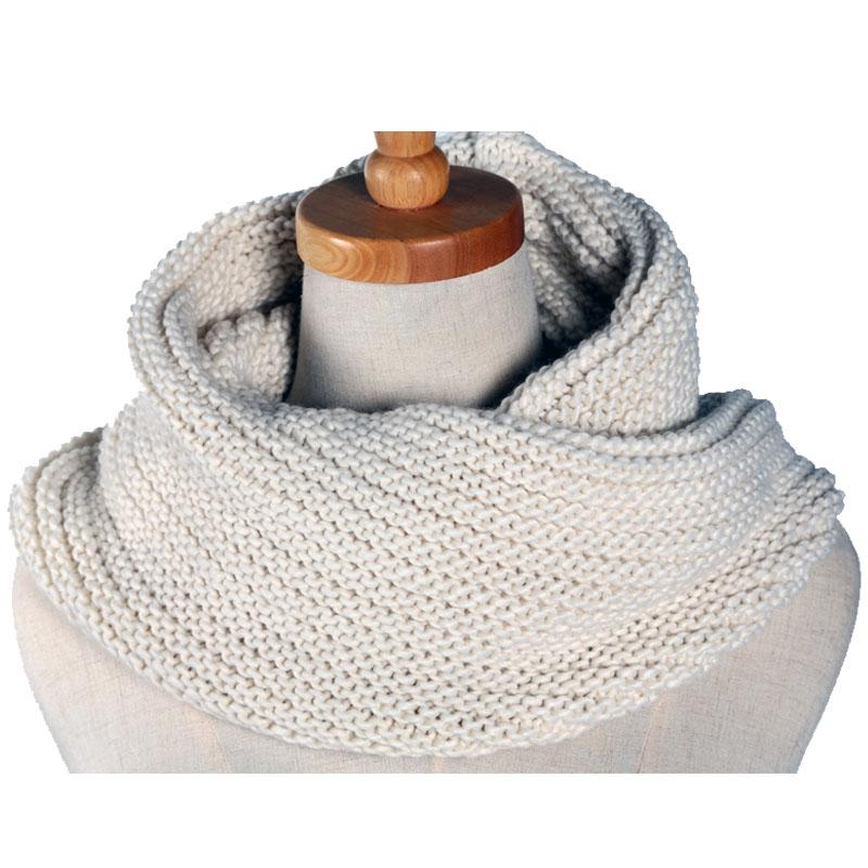 2017 moda 3 color invierno unisex de punto Bufandas lana collar ...