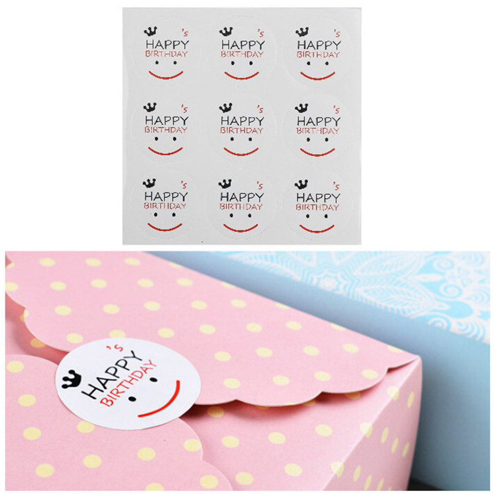 90PCS Candy Color Lace Label Sticker Diy For Gift Cake Baking Sealing Hang Tag