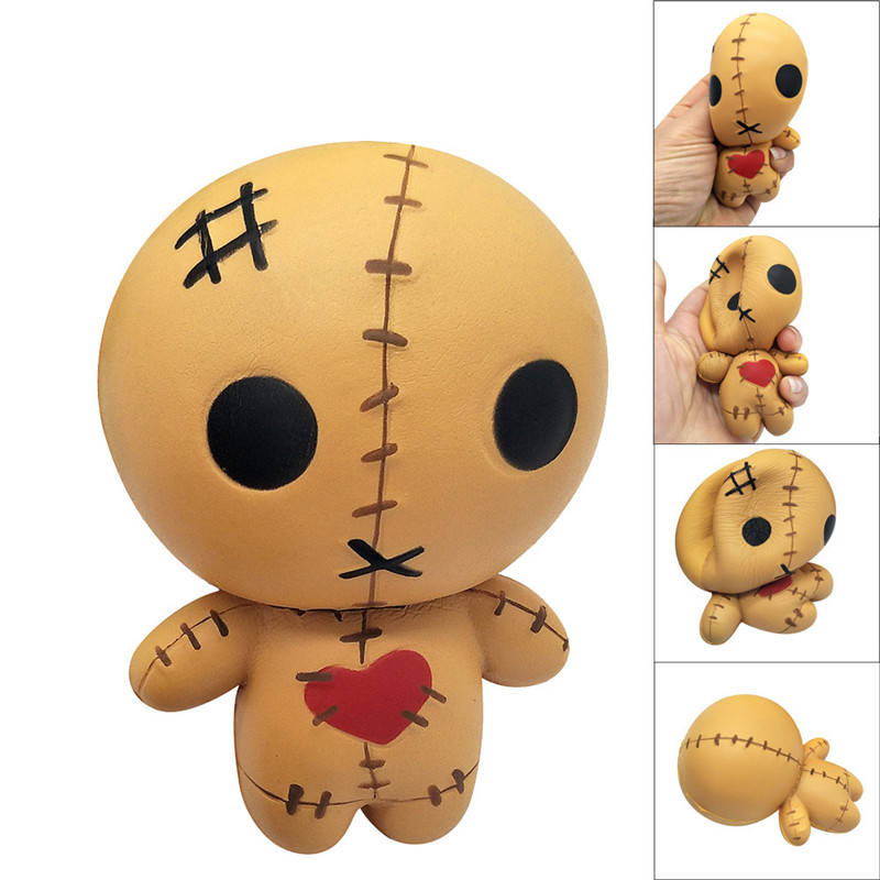 Squeeze Toy 11cm Horror Doll Scented Squishy Charm Slow Rising Simulation Kid Toy Decompression Plaything Best Gift