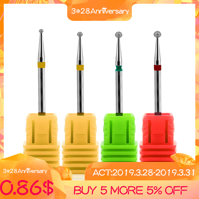 Rosalind 22 Types Ceramic Rotary Burr Nail Files Cuticle Clean Mills Brush For Electric Manicure Nail Drill Accessories
