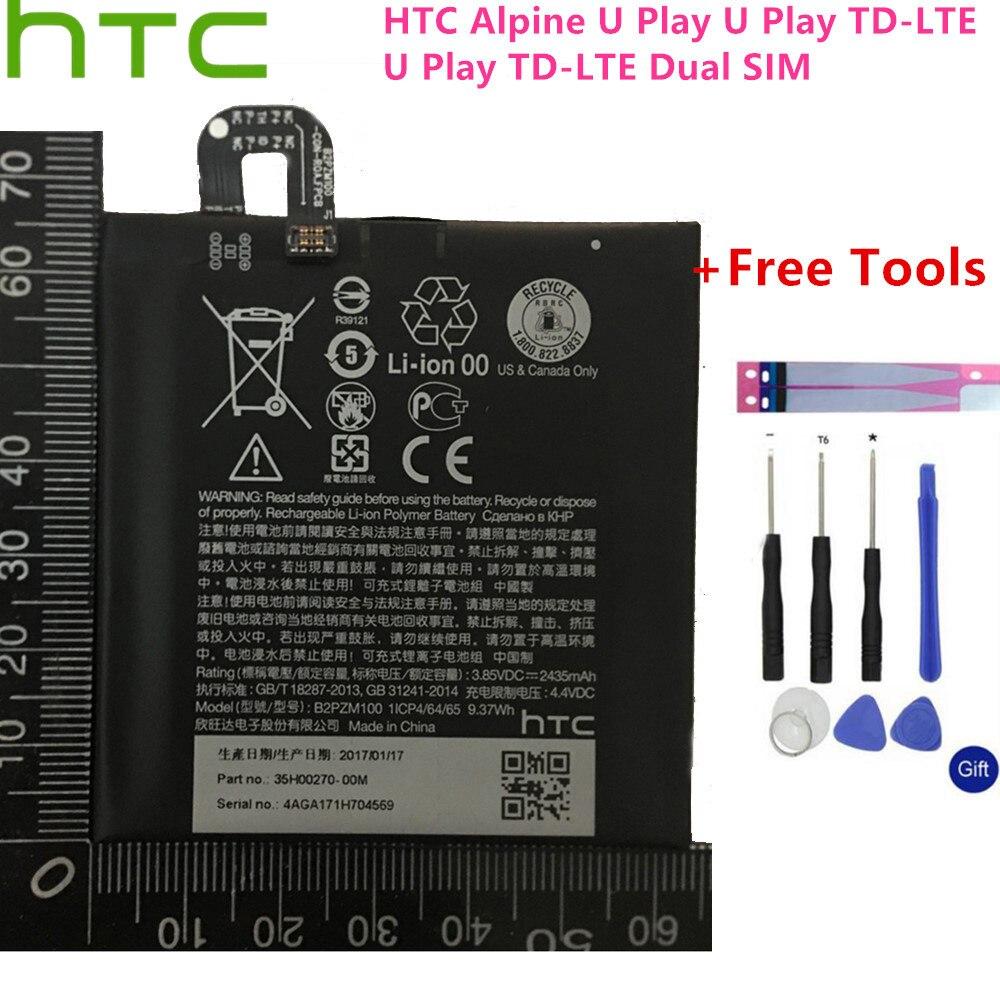 2435mah bateria B2PZM100 apto para HTC Alpine, U Jogar, U Jogar TD-LTE, U Jogar TD-LTE Dual SIM baterias Batterij + Ferramentas + adesivos