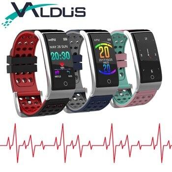 ECG PPG Banda Inteligente Pulseira de Fitness Rastreador IP67 À Prova D' Água Esportes Relógio Inteligente Pulseira de Oxigênio No Sangue Monitor de Pressão Arterial E08