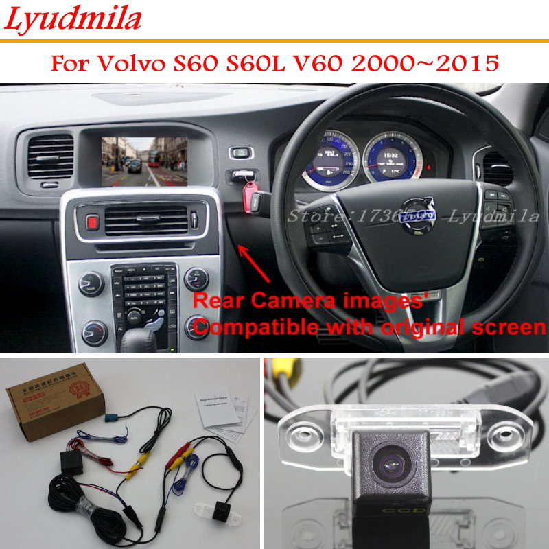 LYUDMILA RCA & Original Factory Screen Monitor For Volvo S60 S60L V60 2000~2015 Rear View Backup Reverse Camera HD Night Vision цена