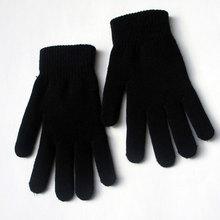 Modny wypoczynek śnieg pogrubienie aksamitna wysoka rozciągliwość dzianiny pięć palców magiczne rękawiczki Hugh mężczyźni i kobiety ciepłe zimowe rękawiczki ciepłe tanie tanio FangNymph Dla dorosłych Unisex COTTON Stałe Nadgarstek Moda WY01797