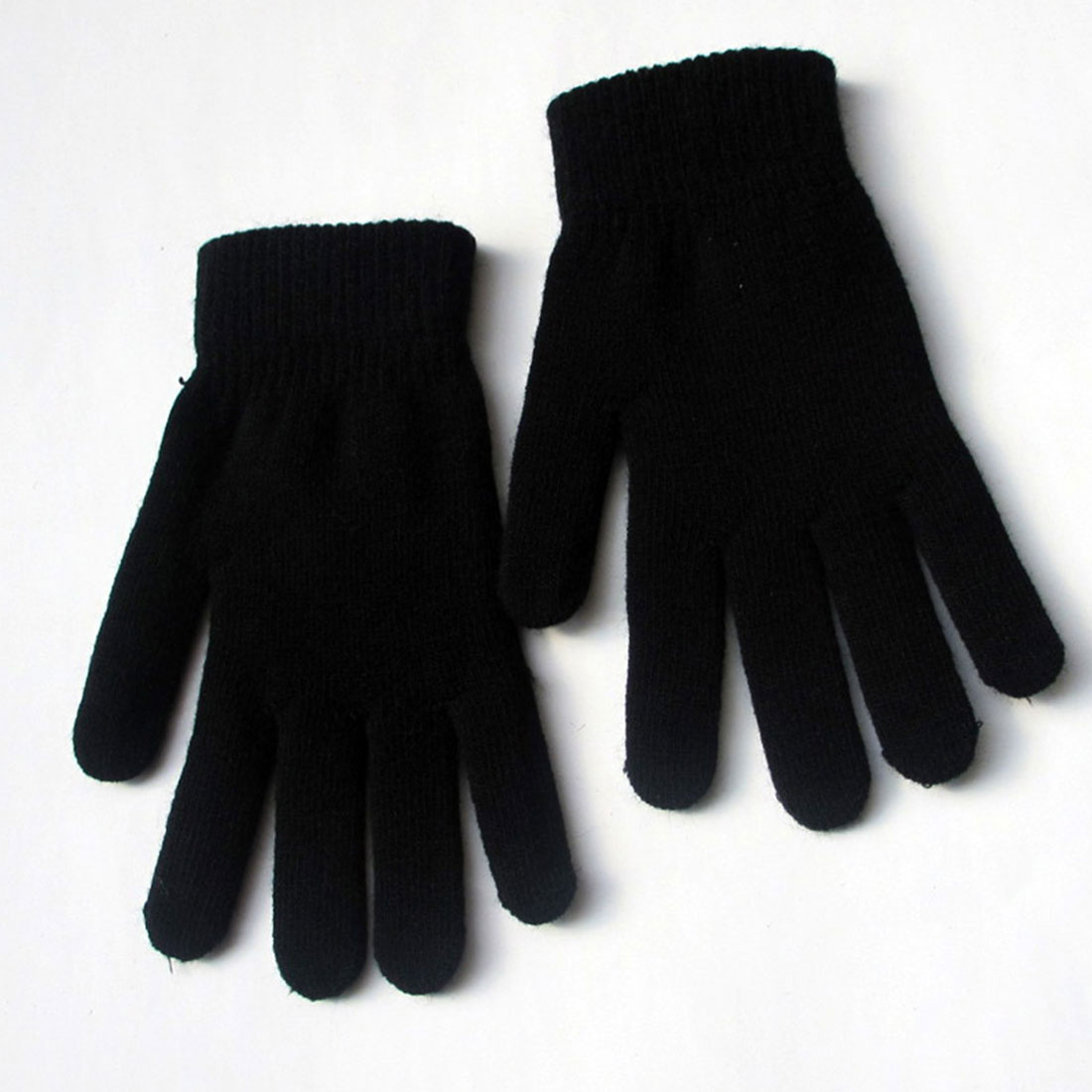 Trendy Leisure Snow Thickening  Velvet High Stretch Knit Five Finger Magic Gloves Hugh Men And Women Warm Winter Gloves Warm