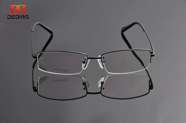 DEDING Super Slim Titanium Clear Lens Myopia Glasses Frame Mens Titanium  Eyeglasses Armacao de Oculos de b16f24ba51