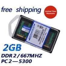128ona 2gb PC2-5300S DDR2-667 mhz memória ram para notebook, módulo 2g pc2 667 5300 667mhz 200pin ddr2 sodimm frete grátis, frete grátis