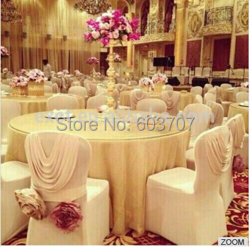 White Color New Design Luxury Spandex Chair Cover With