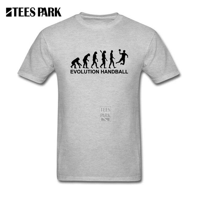Camisetas Compras En Línea evolución Balonmano Hombre Cuello Redondo Manga  Corta Camiseta Popular Loco Hombre Camisetas 92c7eacdc1c3a