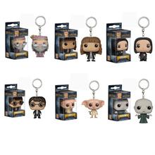 magical Novel Harri Potter cartoon figure toys Hermione Voldemort Professor Snape Dumbledore Pendant Keychain gifts toy for kids