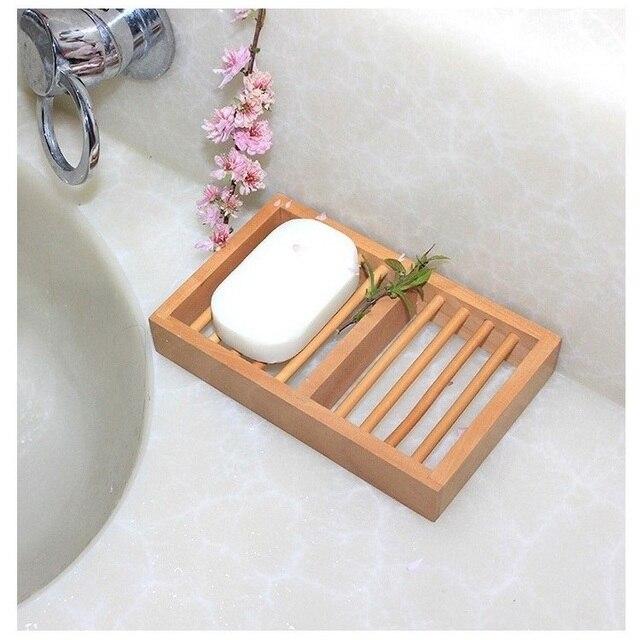 Бесплатная доставка дерево сказал мыльницей японский стиль Muji мыло ручной коробка дерево мыльница аксессуары для ванной комнаты