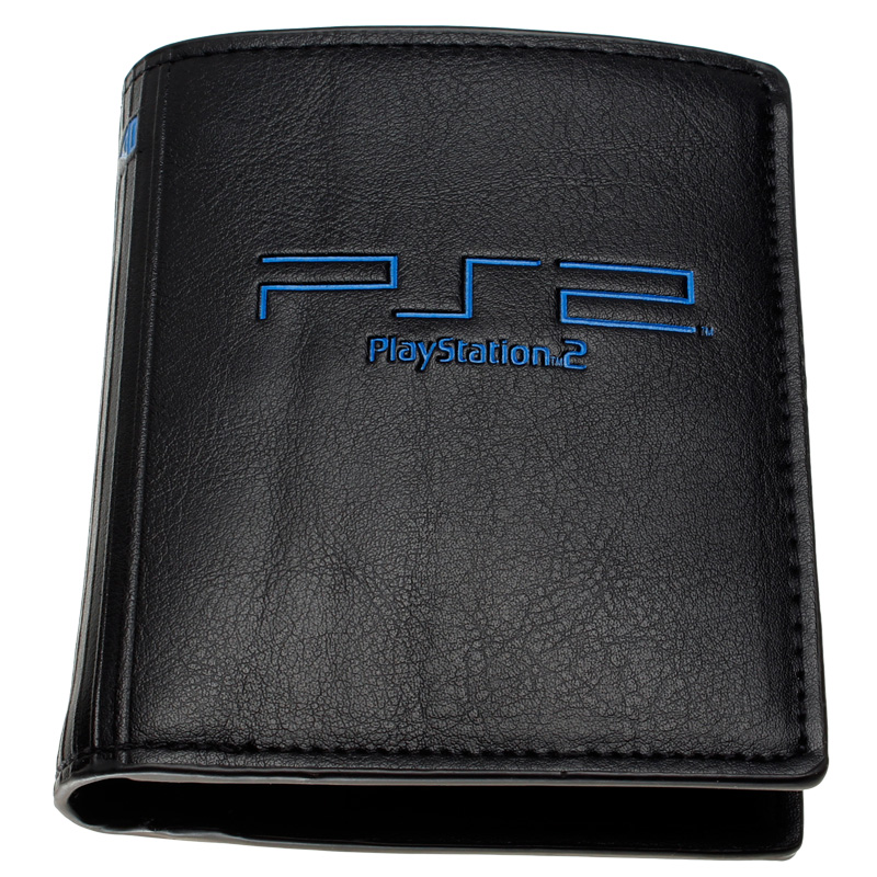 playstation 2 wallet youth student individuality original paragraphs short transverse fashion purse  DFT-2146 playstation console shaped bifold pu wallet playstation dft 1250a
