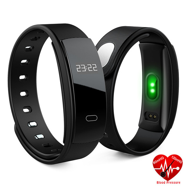 QS80 Heart Rate Monitor Smart Band Blood Pressure Monitor IP67 Smart Wristband Fitness Tracker Smart Bracelet For IOS Android