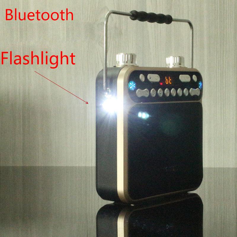 Clever Tragbare Wiederaufladbare Stimme Verstärker Megaphon Bluetooth Lautsprecher Fm Tf Usb Lautsprecher Led Taschenlampe Mit Zwei 18650 Batterie