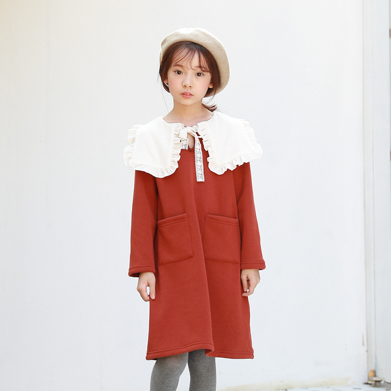 MAGGIE'S WALKER Autumn Children Clothing Long Sleeved Cotton Dress Kids Girls Princess Party Dresses Girls Vestidos Robe Fille princess girls long sleeved children s evening autumn new europe and the united states dress kids clothing red silk