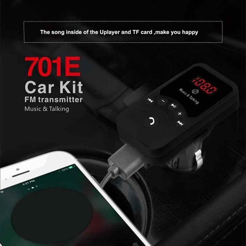 Nuevo Mini coche Mp3 inalámbrico Bluetooth Kit manos libres coche transmisor FM con mando a distancia con cargador USB 3.1A para smartphone