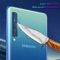 Film protecteur d'objectif de caméra arrière pour Samsung Galaxy A9 2018 J4 Plus J6 J8 J7 2018 A7 A705 Film de verre trempé de sécurité
