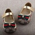 Crianças Sapatos Meninas Sapatos Princesa Sapatos Meninas Sapatilha De Couro Da Moda Linda Flor Crianças Sola de Couro Macio Flats