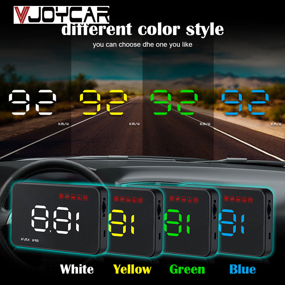A100s Cheapest Car HUD Head Up Display OBD2 II EUOBD Overspeed Warning System Projector Windshield Auto Voltage Alarm