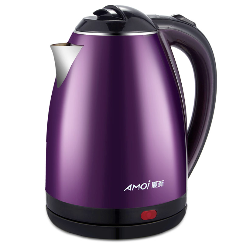 Amoi BP-150202 Electric Kettle 304 Stainless Steel Anti-hot Tea Pot 220v 600w 1 2l portable multi cooker mini electric hot pot stainless steel inner electric cooker with steam lattice for students