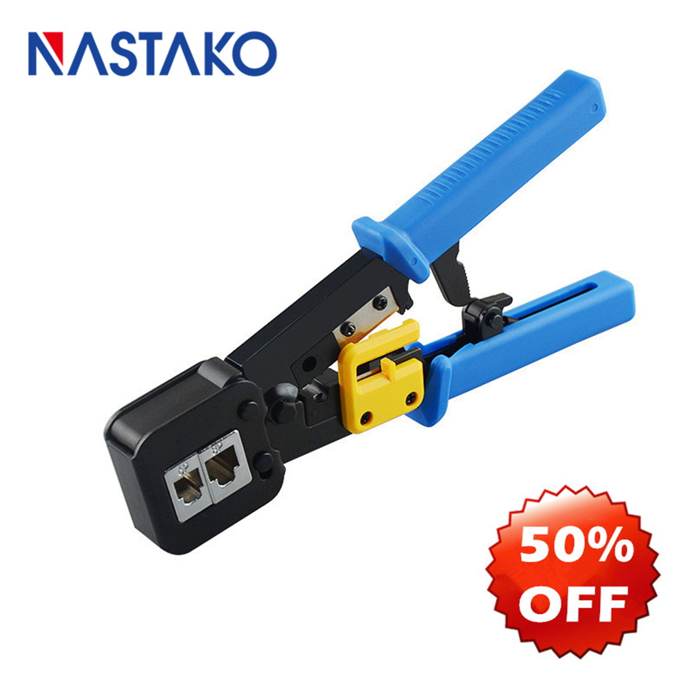 ez rj45 tool crimper hand network Stripping tool plier for ez rj45 rj11 cat6 cat5 8p8c multi Cable crimping Stripper-in Networking Tools from Computer & Office