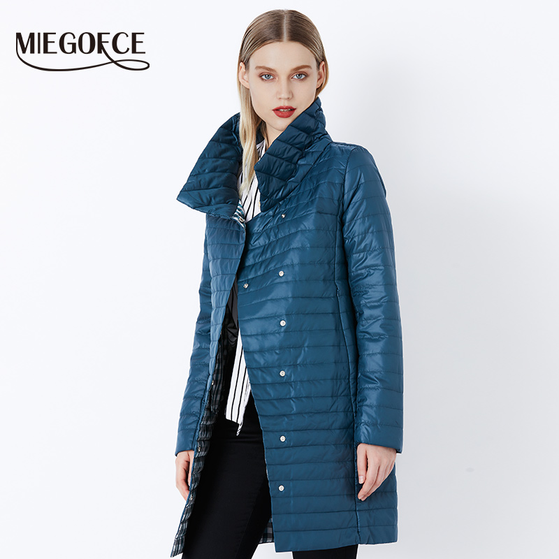 MIEGOFCE 2018 Spring Parka Winter Women's Warm Outwear Thin Cotton-Padded Long