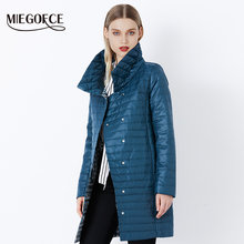 MIEGOFCE 2018 New Spring Jacket Parka Women Winter Coat Women's Warm Outwear Thin Cotton-Padded Long Jackets Coats High Quality(China)