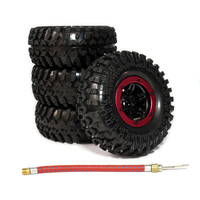 4pcs Inflatable 2 2 Inch Beadlock Tire Wheel Air Pneumatic For 1 10 RC Crawler Truck