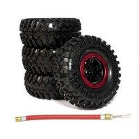4pcs Inflatable 2 2 Inch Beadlock Tire Wheel Air Pneumatic For 1 10 RC Crawler Truck